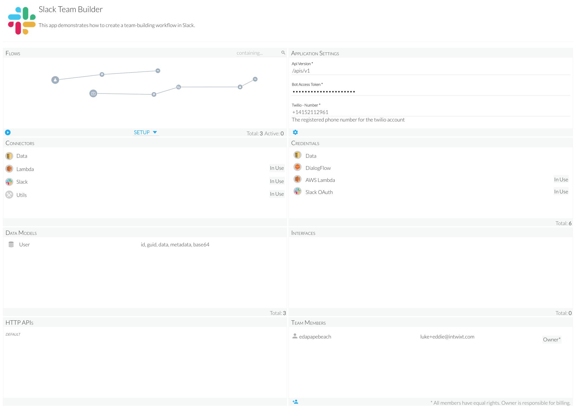 Create a Team-building app in Slack
