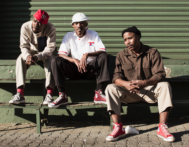 Photo by Chris Saunders.   Left to right: Vusi Mdoyi, Sicelo Xaba, Sello Modiga