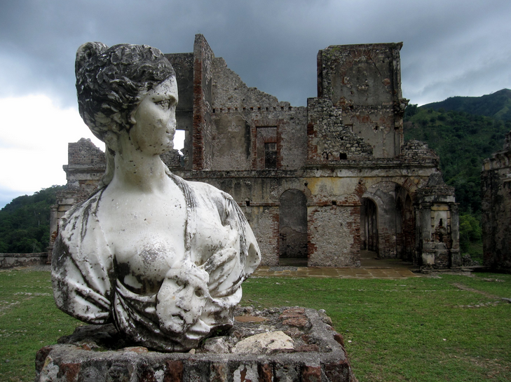 San Souci Palace, Milot Haiti  (the palace of slave-rebellion leader Henri Christophe, Sans-Souci Palace, Haiti)