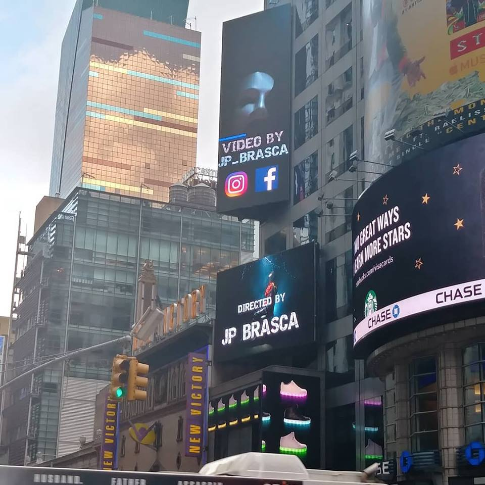 My video in TIMES SQUARE