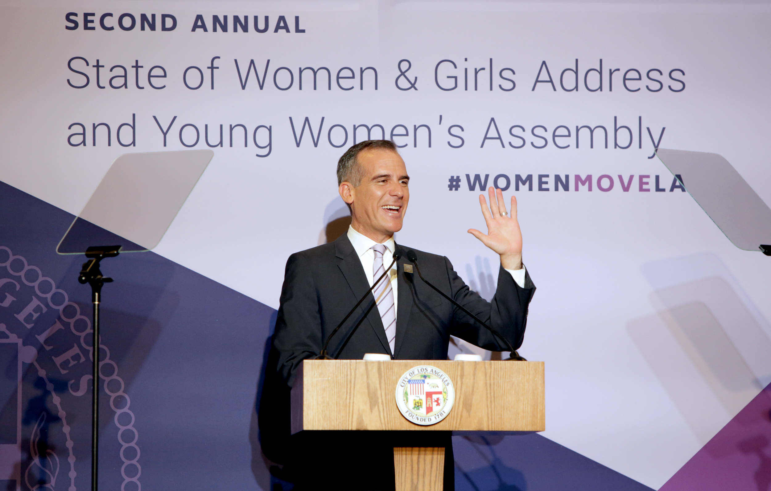 Images sourced by  Mayor Eric Garcetti's flickr account .