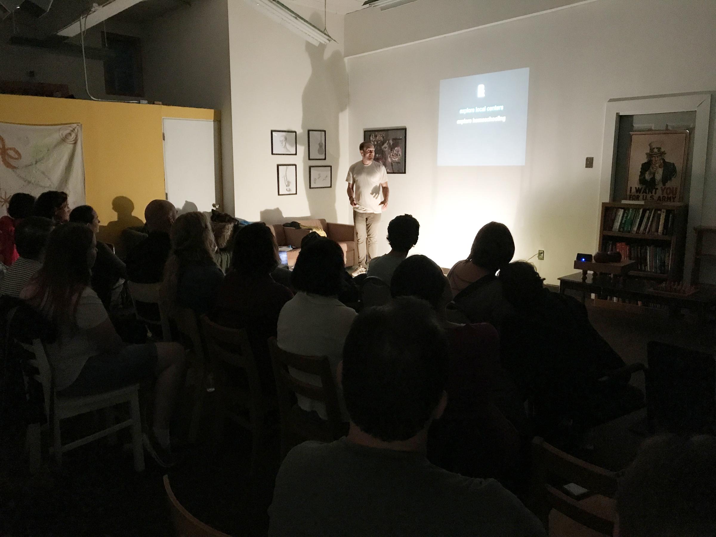 Blake Boles speaks at Beacon Self-Directed Learning.