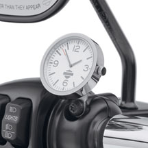 Harley Davidson Clock - Chrome and White - Day Model p/n 70900307 DOI 2013