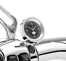 Harley Davidson Chrome and Black Clock p/n 75041-03  DOI 2003