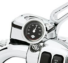 Harley DavidsonChrome and Black Celsius Thermometer p/n 75108-06  DOI 2006