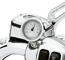 Harley DavidsonChrome and Silver Celsius Thermometer p/n 75115-06  DOI 2006