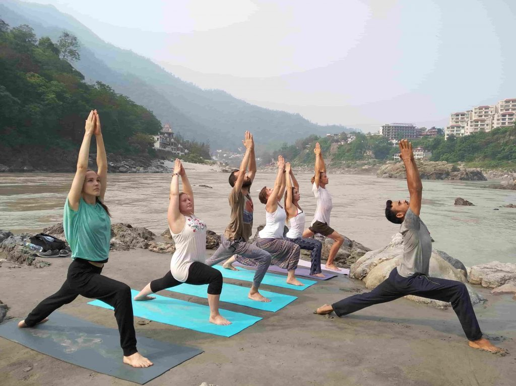yoga by the Ganges
