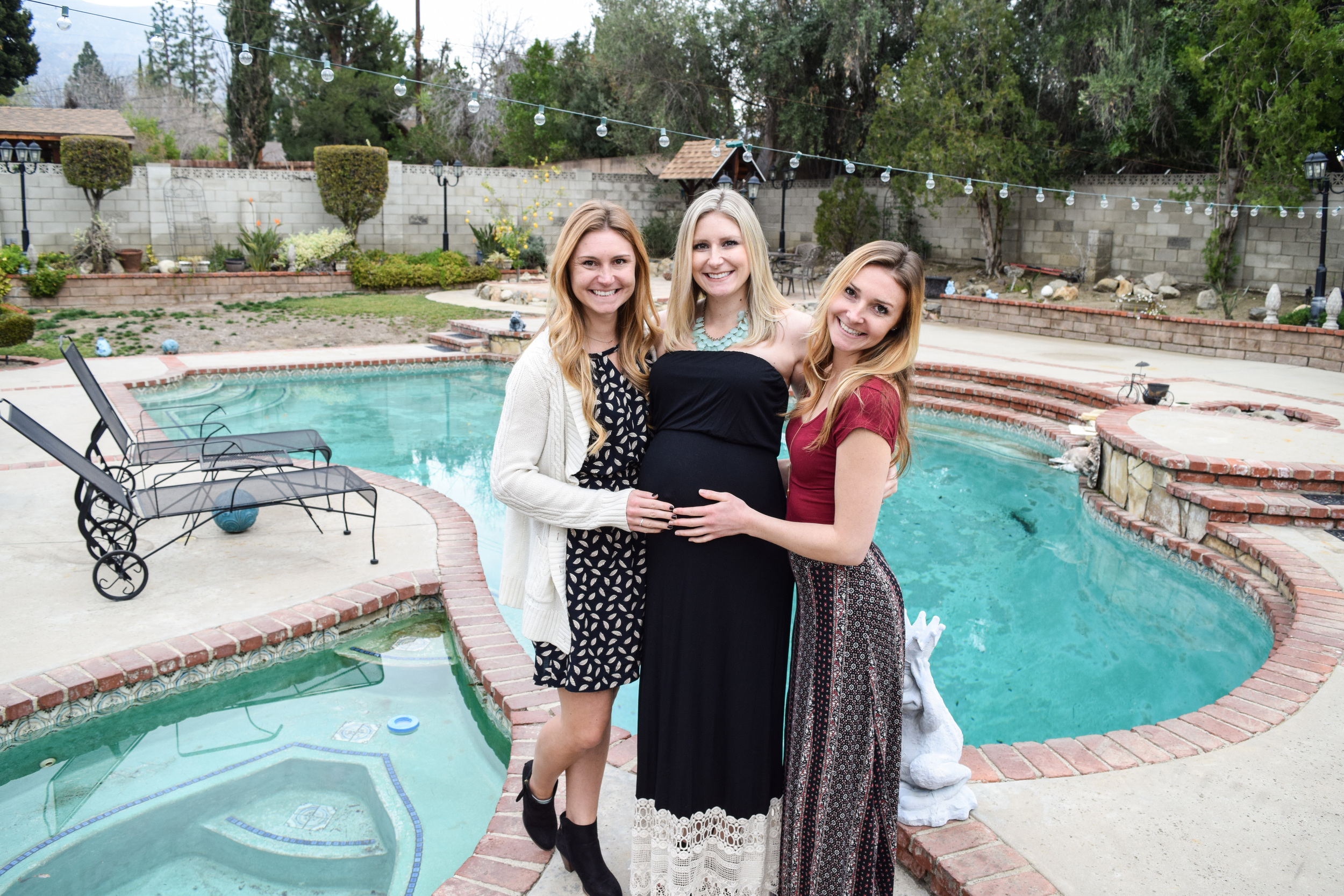 Auntie Nicole (left), Mommy-to-Be (middle), Auntie Alicia (right)