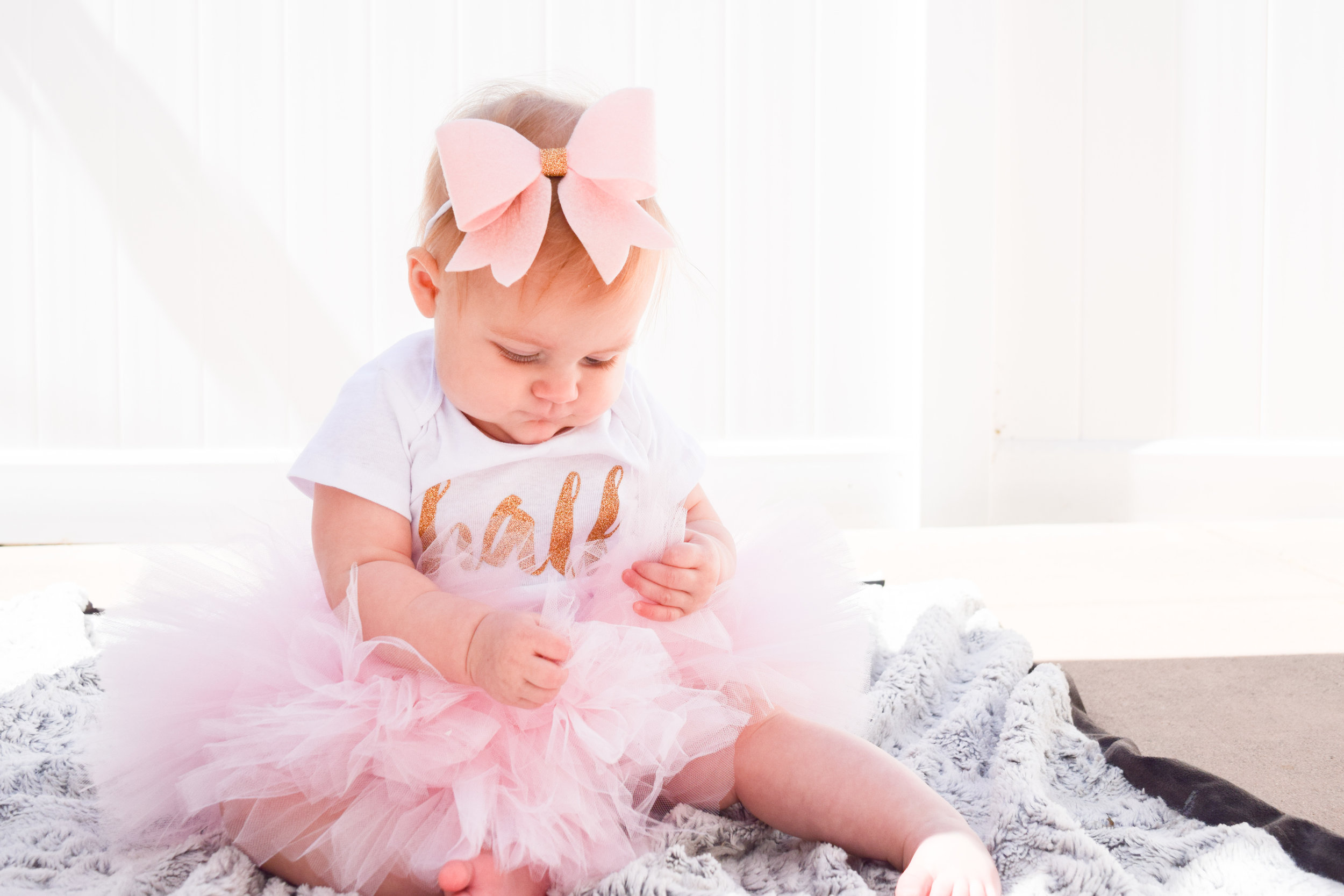 six month birthday outfit, baby half birthday outfit