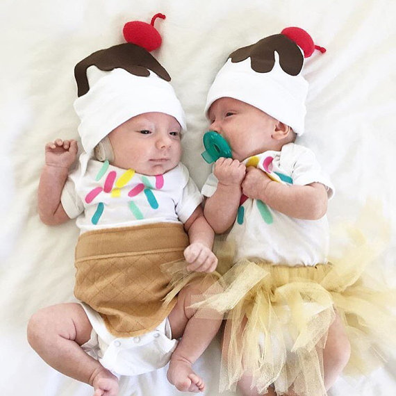 baby halloween costume ideas - baby ice cream costumes