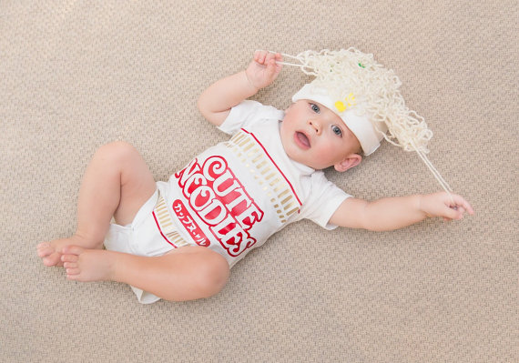baby halloween costume ideas - baby cup o noodles costume