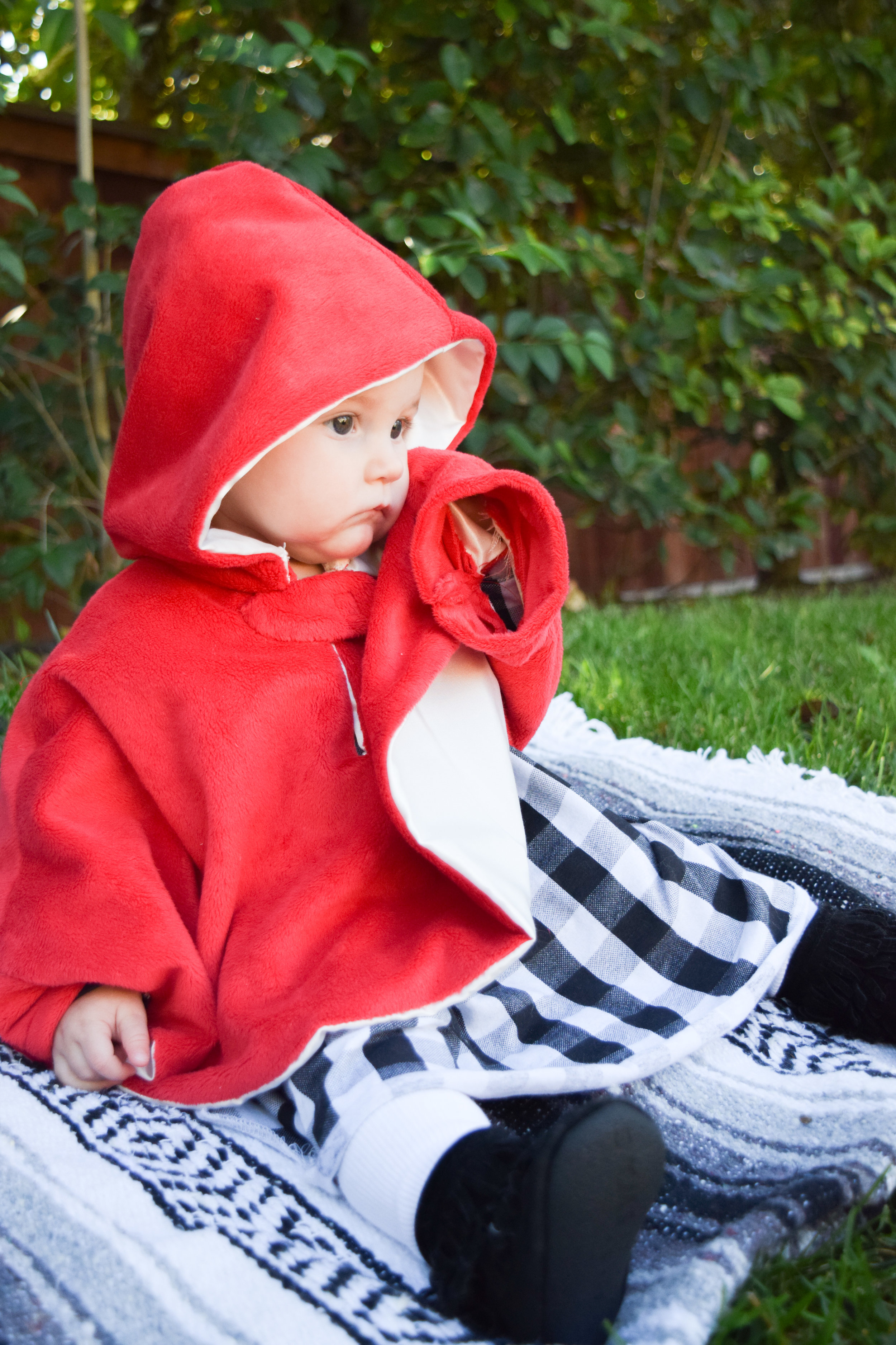 Ava's 1st Halloween - Family Halloween Costume for Three - Little Red Riding Hood Baby Costume