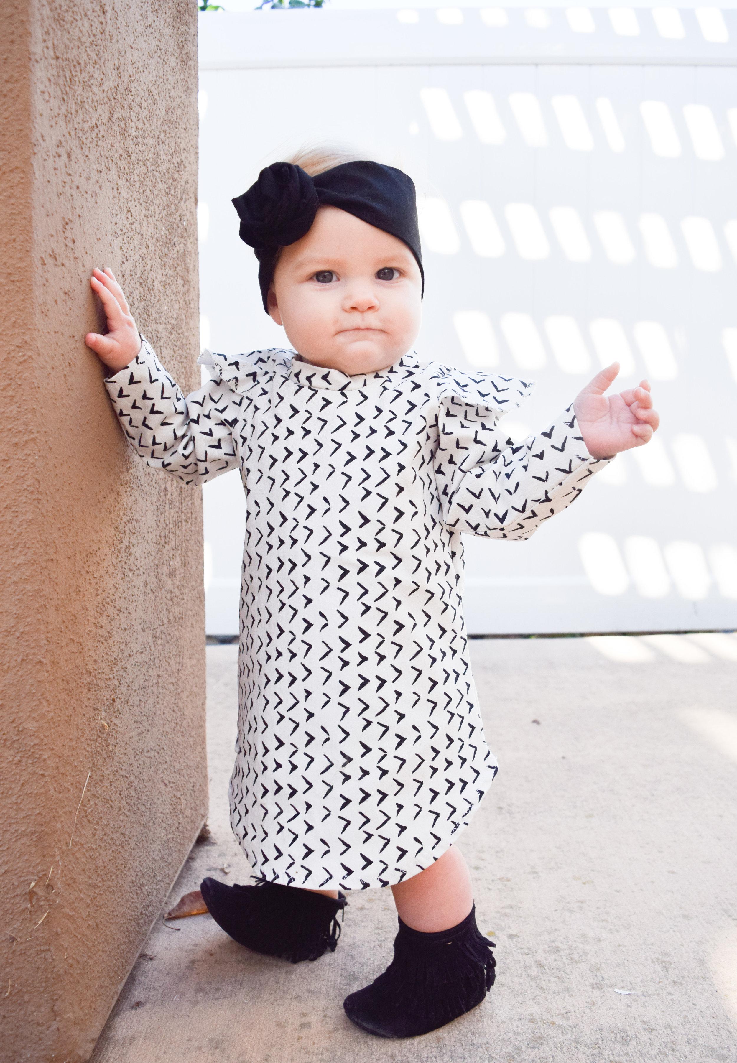 BABY FASHION | Black + White Holiday Kids Dress