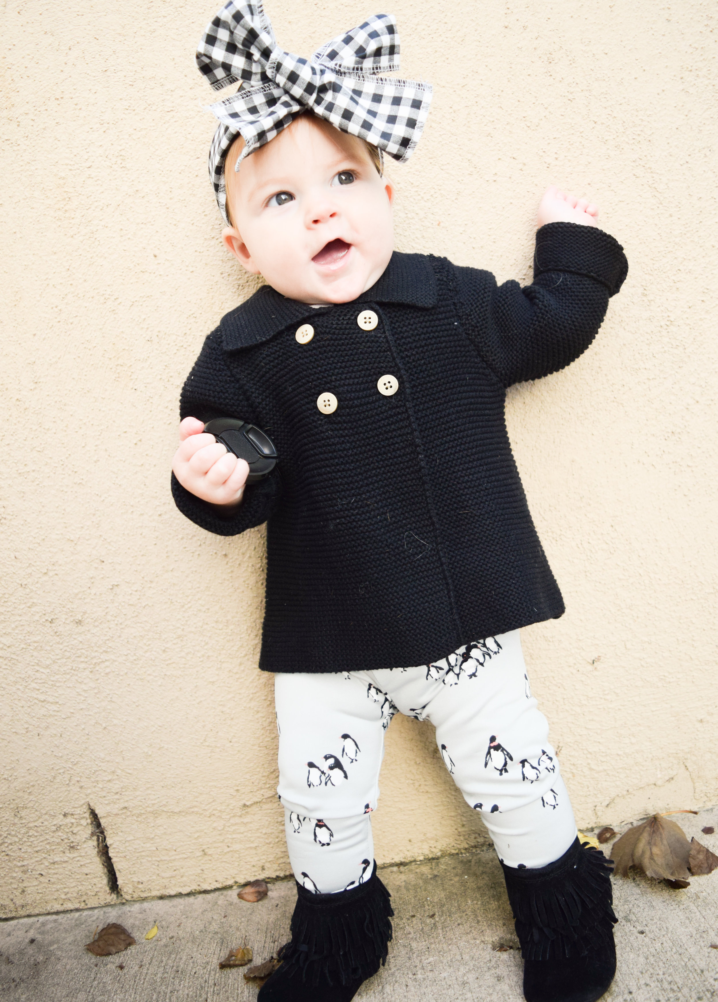 BABY FASHION | Kids Penguin Leggings - Cute Kids Winter Outfit