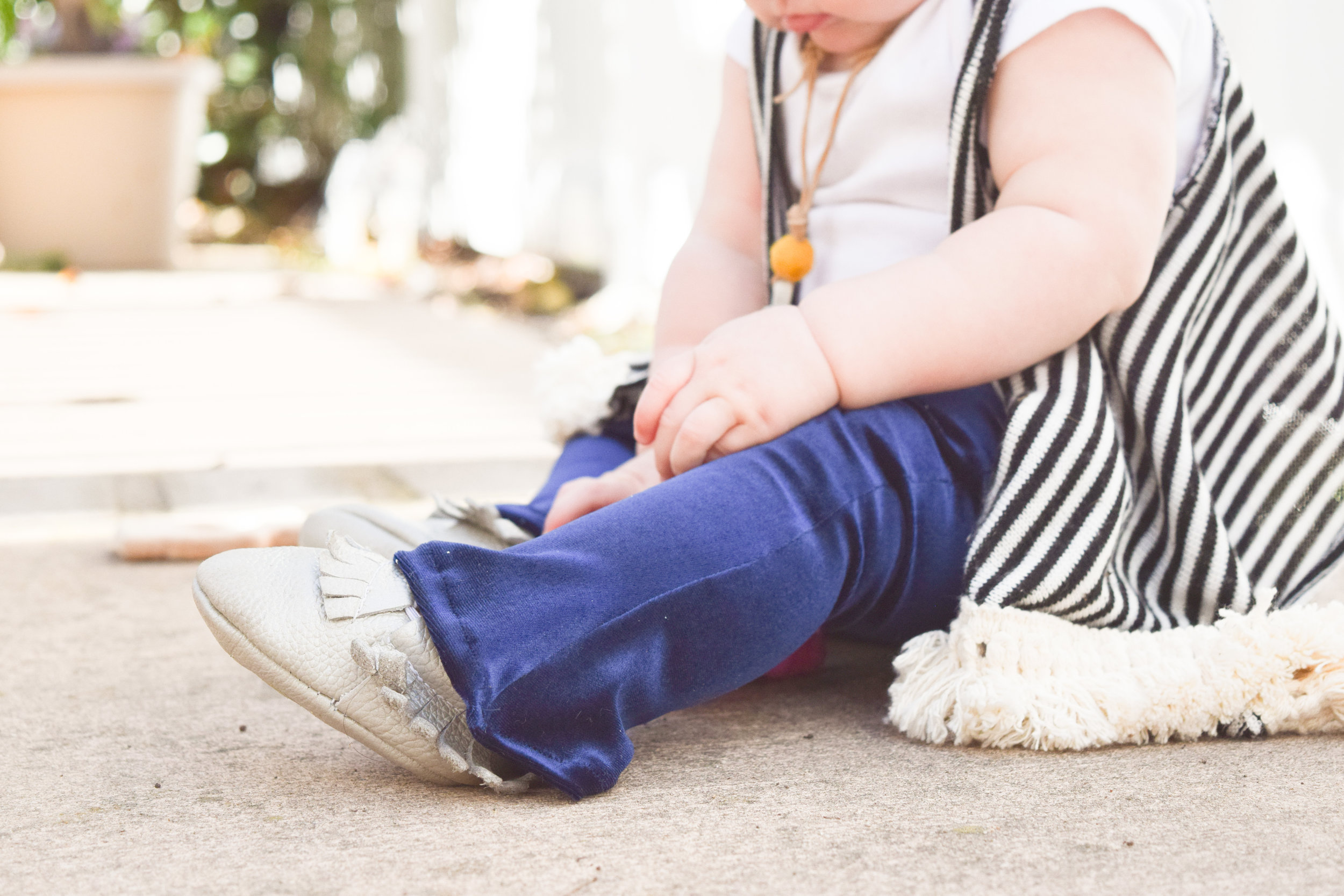 KIDS FASHION | Navy Velvet Kids Bell Bottoms Boho Outfit