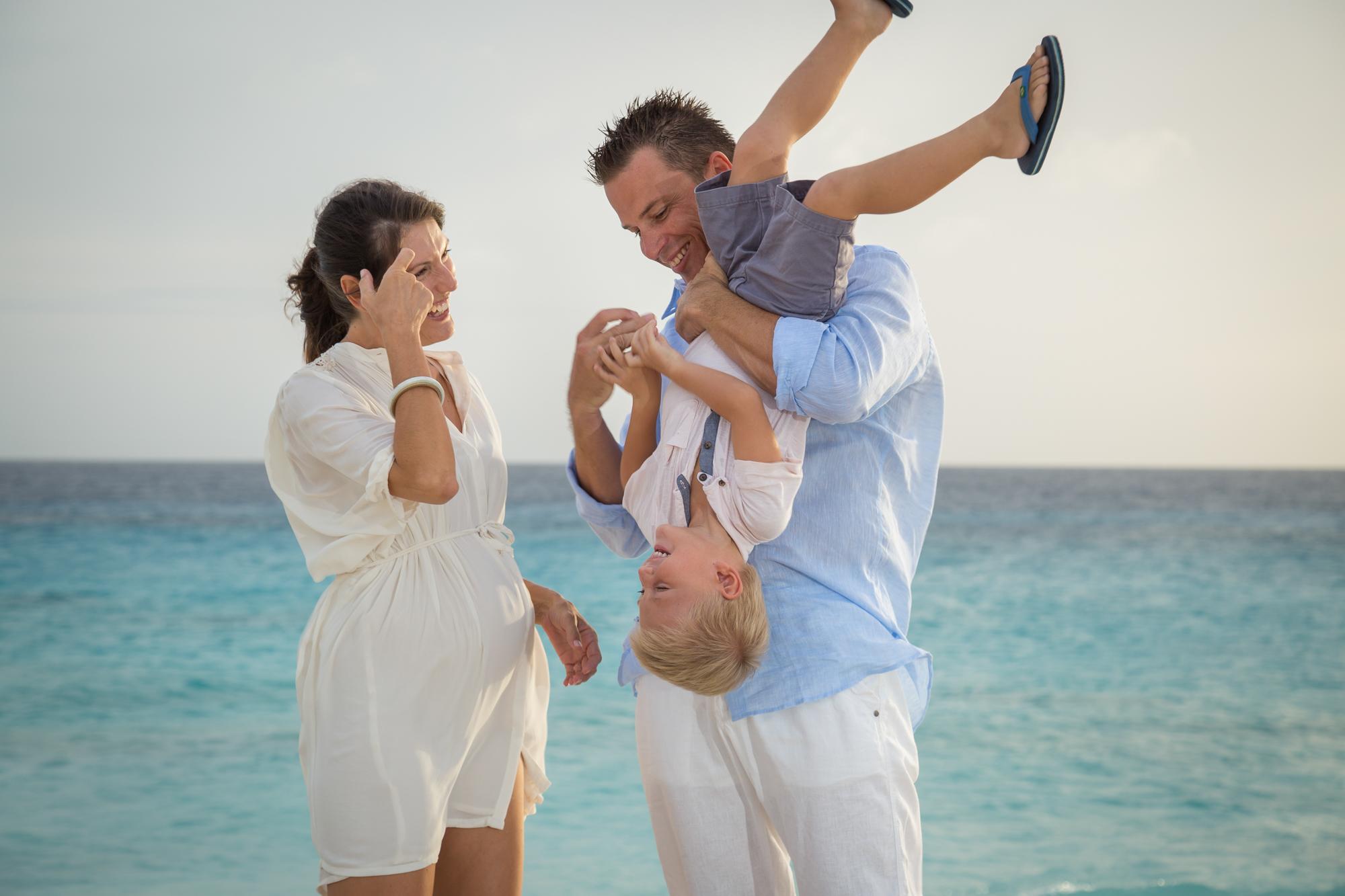 BEACH MATERNITY PHOTOS | Caribbean Sunset Maternity Session