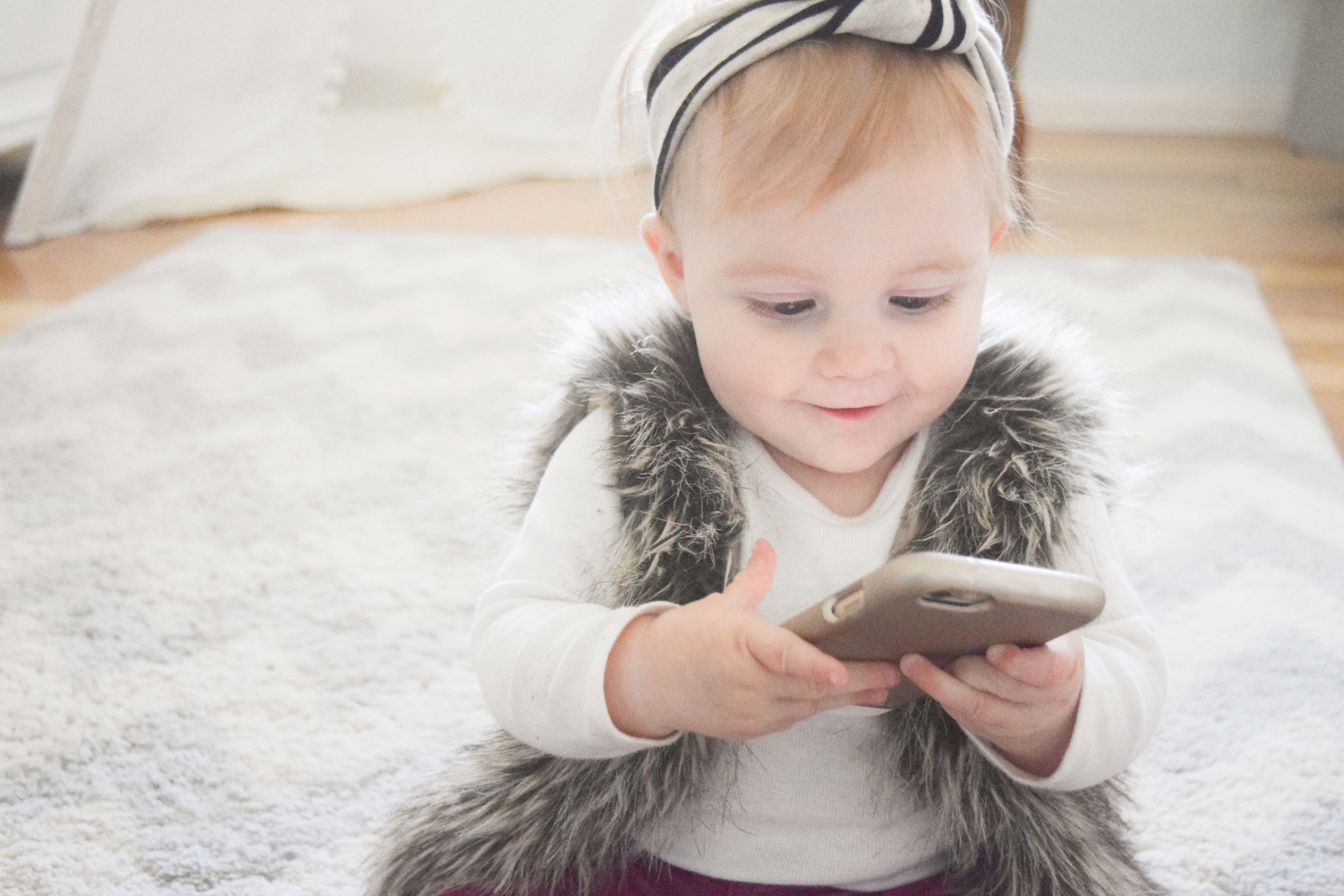 Baby Fashion - Baby Fur Vest, Rose Gold Baby Moccasins, Baby Headbands