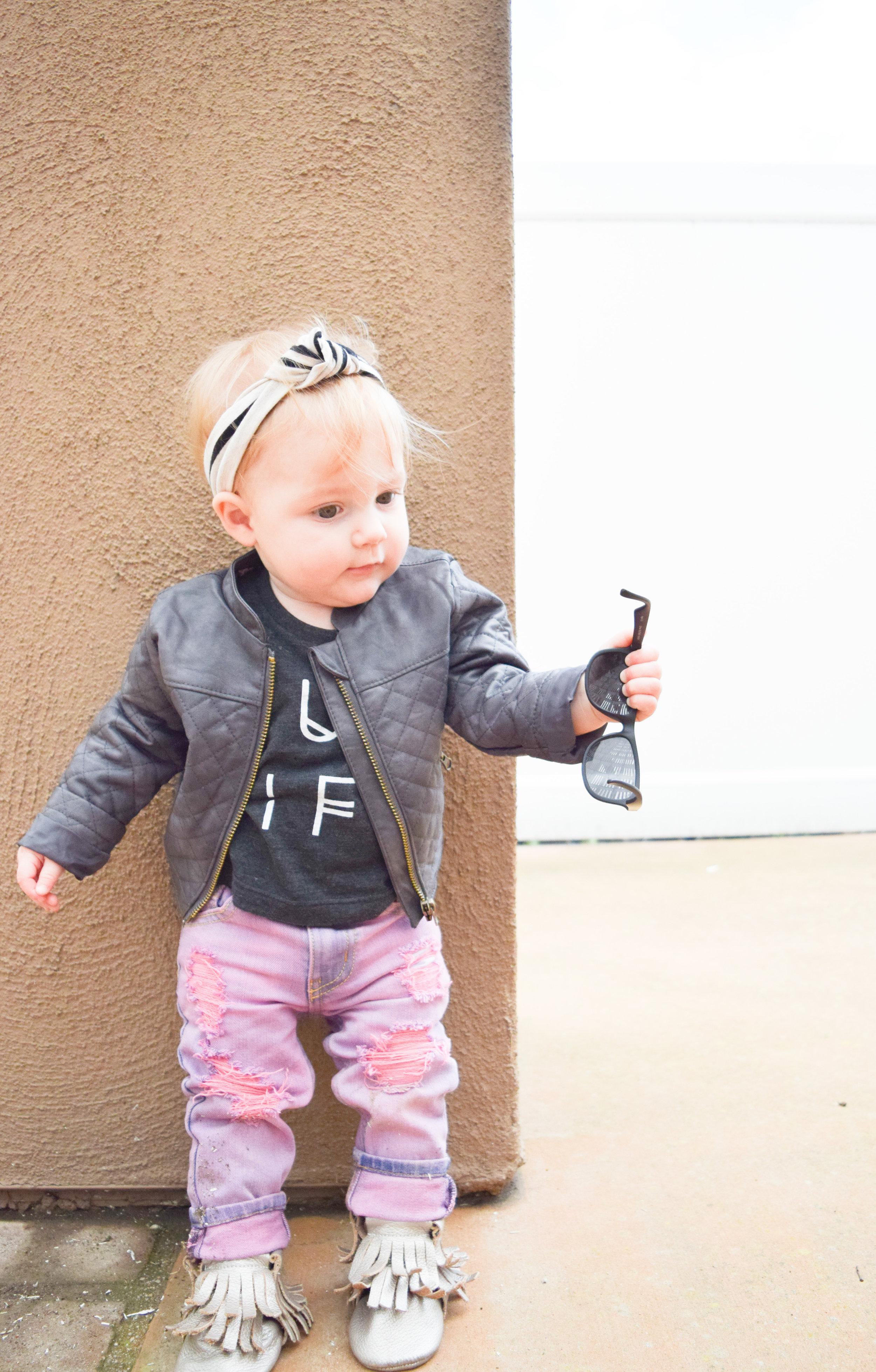 e7a3b31430cfa BABY FASHION | Rocker Baby in Distressed Denim + Leather — The ...