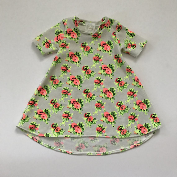 Floral Neon Baby Spring Dress