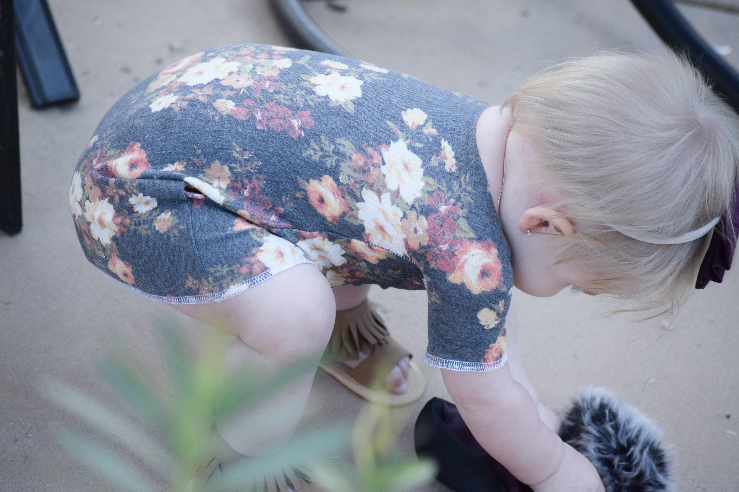 Baby Floral Off the Shoulder Dress - Baby Gladiator Sandals