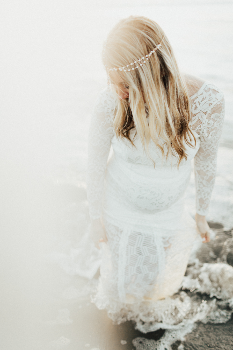 Southern California Beach Maternity Photos - Elle Lily Photography