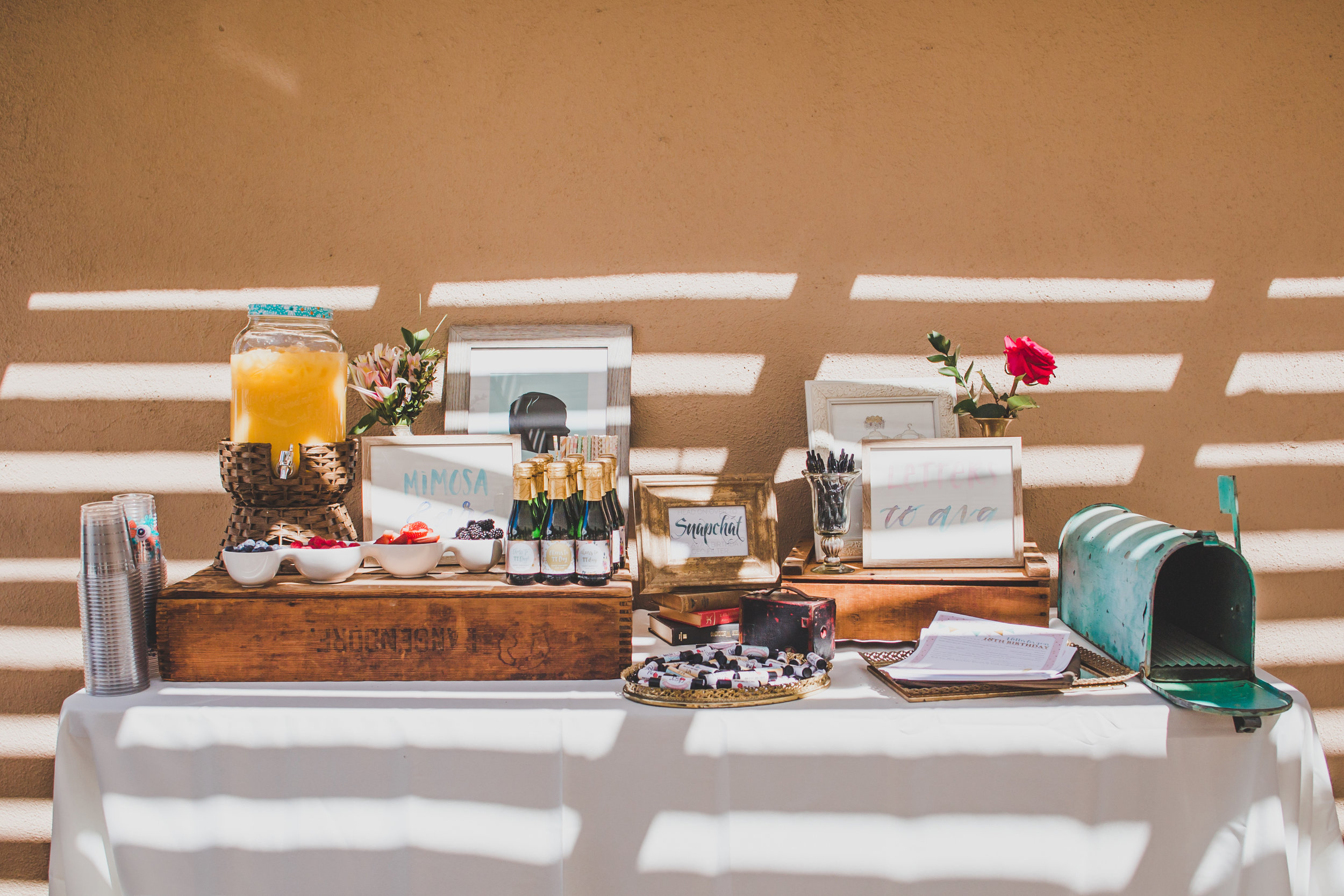 Vintage Mimosa Bar - A Vintage Chic Pi Day Themed 1st Birthday Party