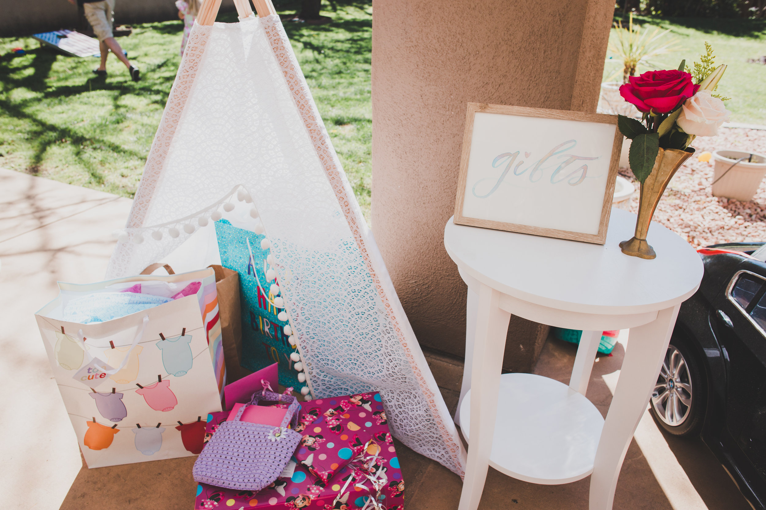 Gift Teepee - A Vintage Chic Pi Day Themed 1st Birthday Party