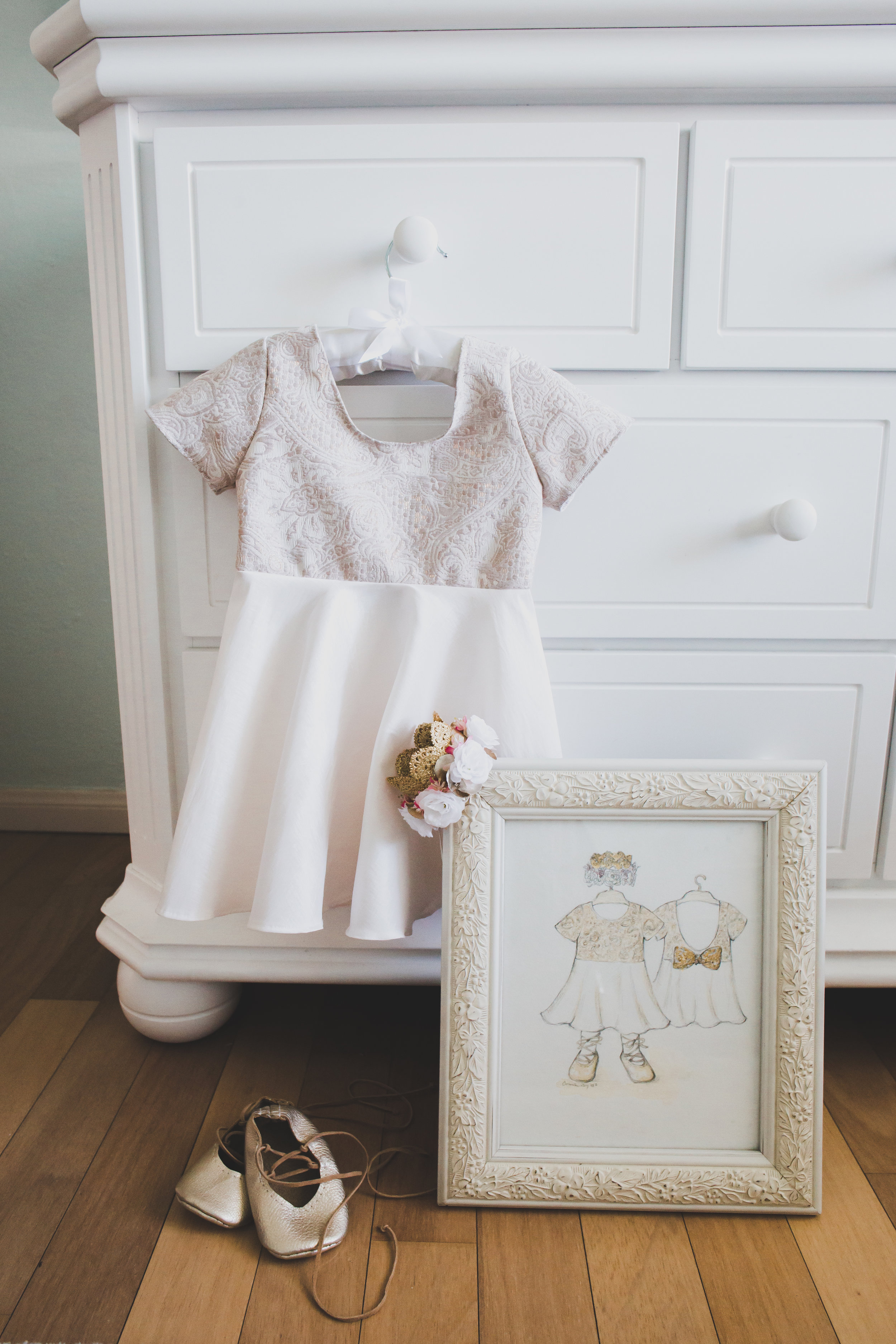 First Birthday Party Dress - A Vintage Chic Pi Day Themed 1st Birthday Party