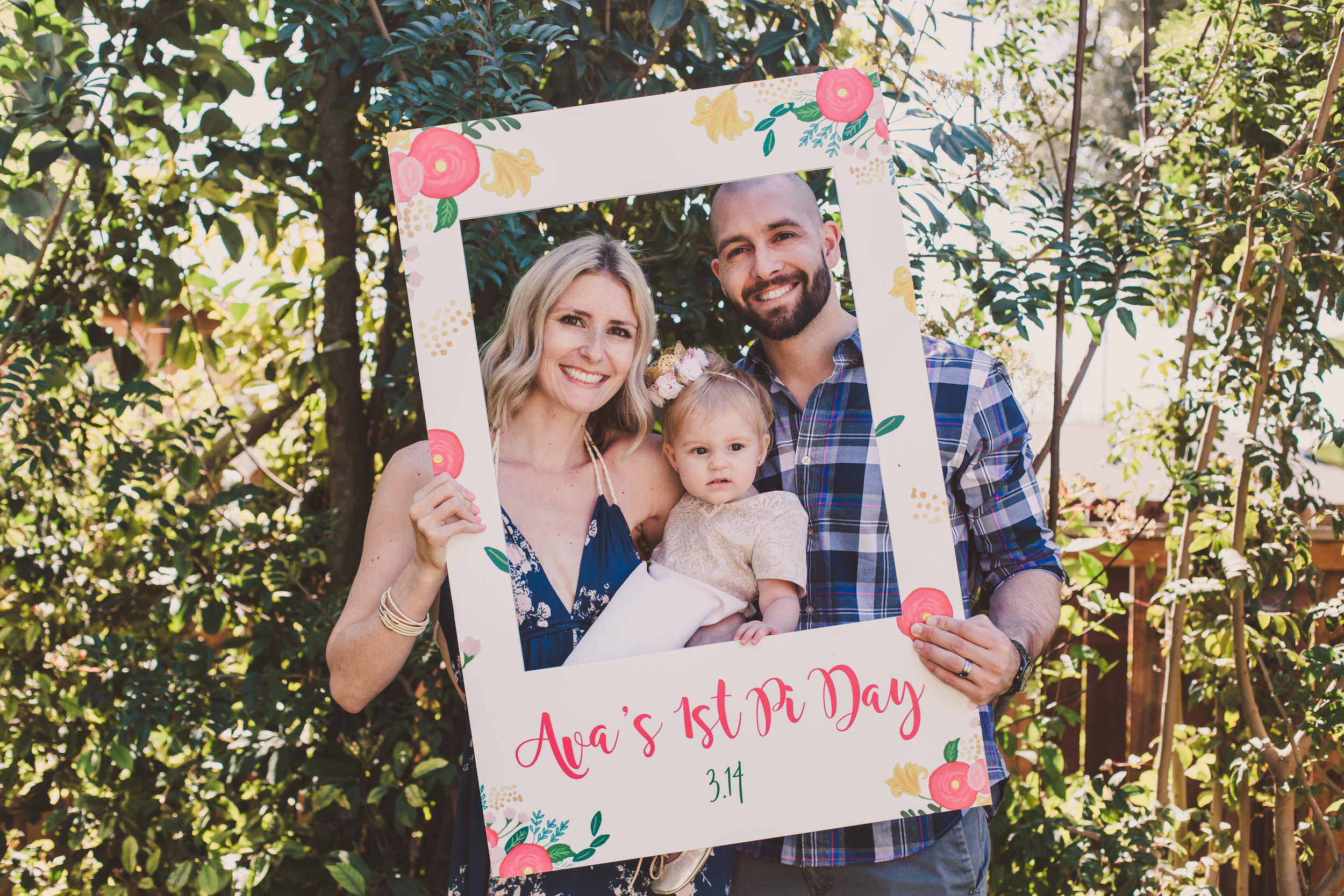 Party Photo Frames - Photobooth Props - A Vintage Chic Pi Day Themed 1st Birthday Party