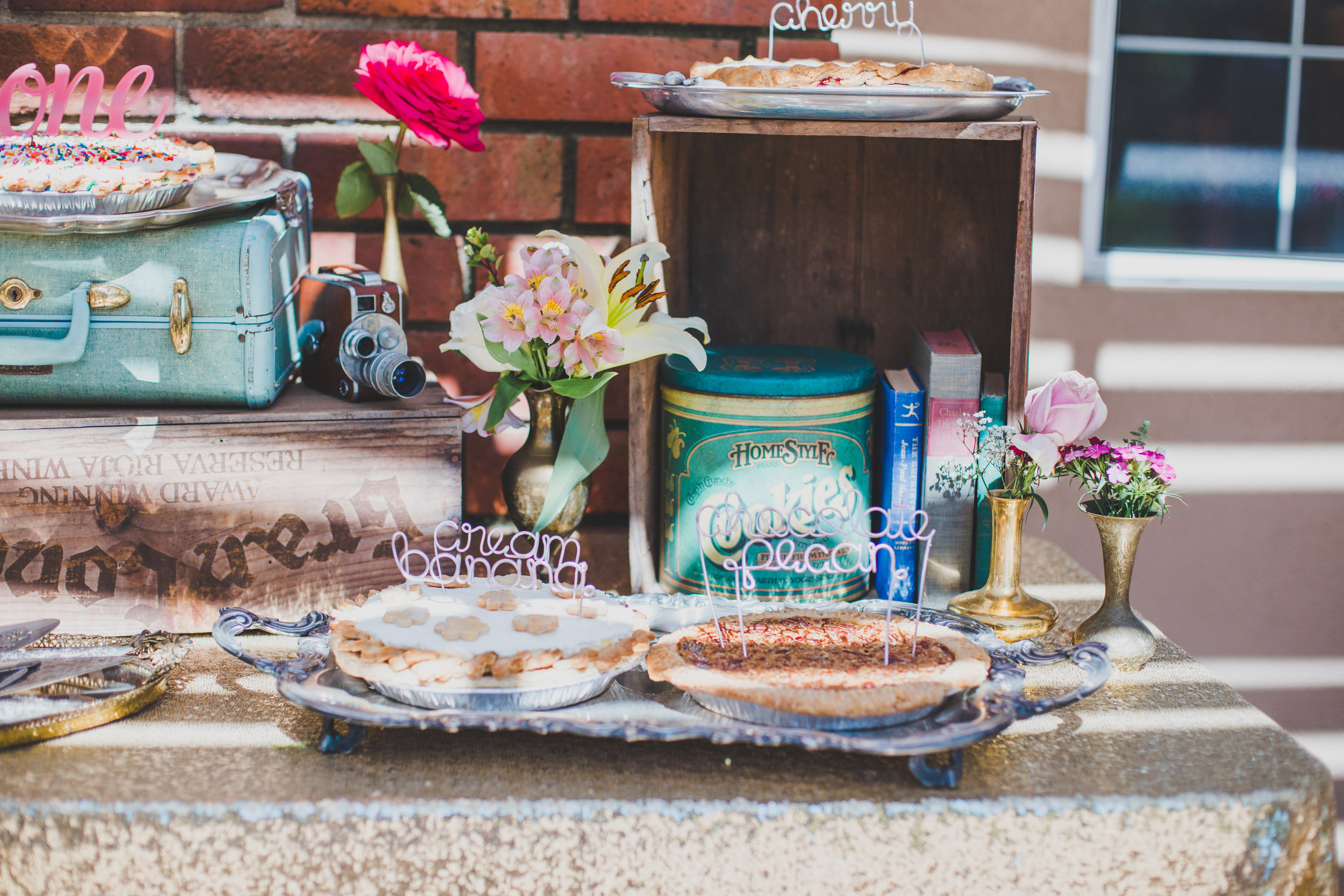 Vintage Pie Bar - Unique Cake Topper - A Vintage Chic Pi Day Themed 1st Birthday Party