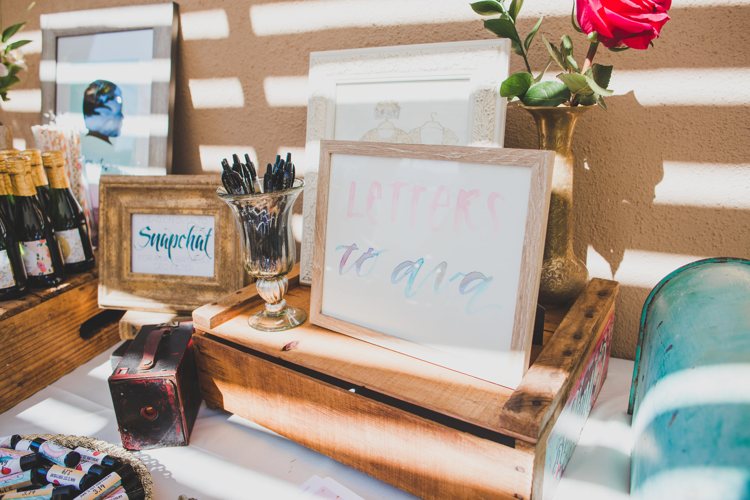First Birthday party Ideas - Vintage Mimosa Bar - First Birthday Party Ideas - A Vintage Chic Pi Day Themed 1st Birthday Party