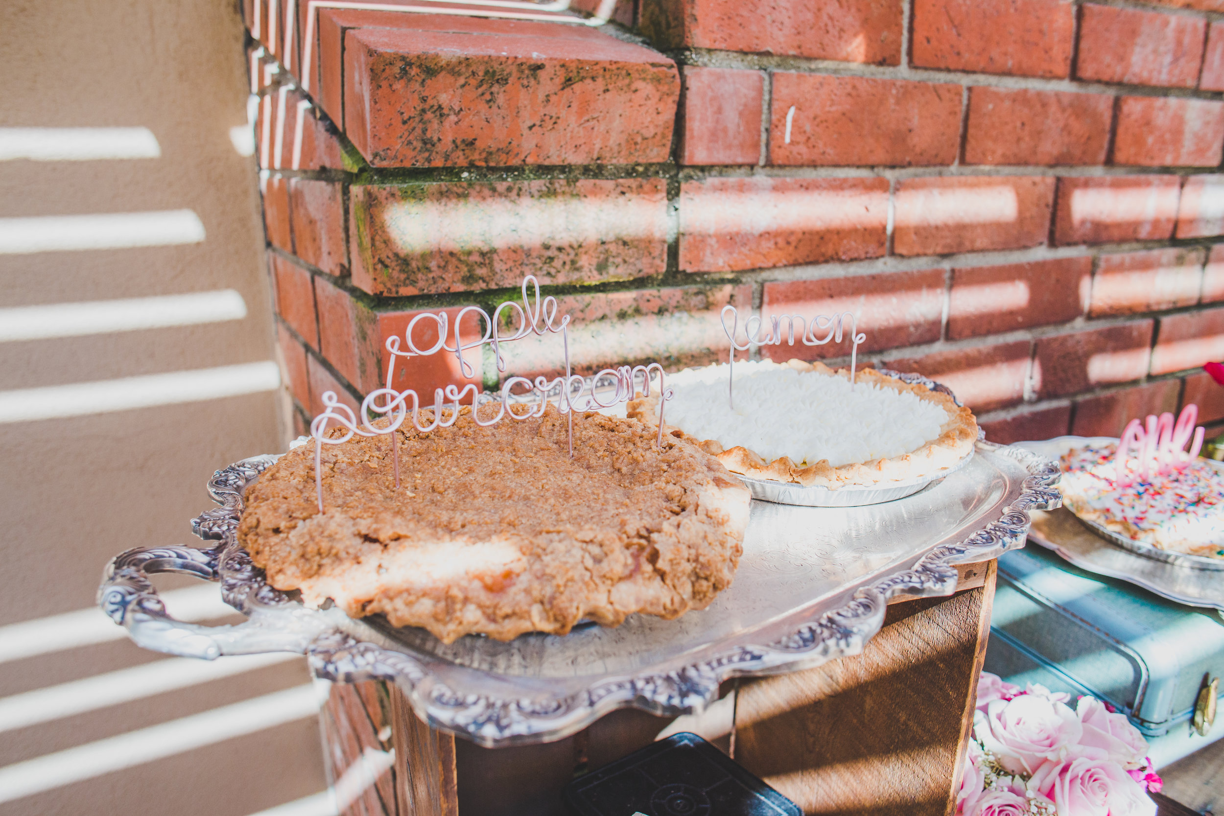 Vintage Pie Bar - First Birthday Party Ideas - A Vintage Chic Pi Day Themed 1st Birthday Party   Ava's First Birthday