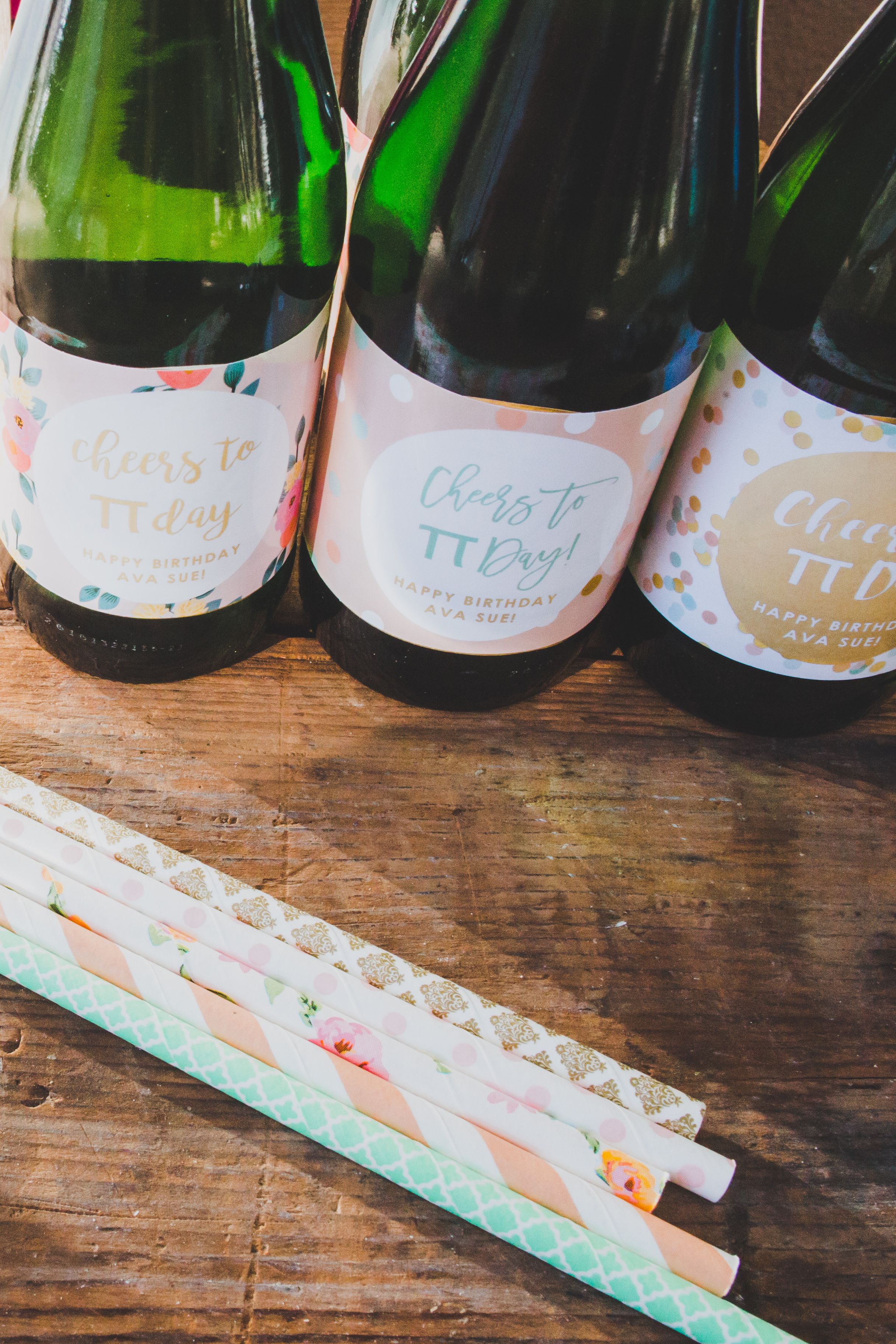 Vintage Paper Straws - First Birthday Party Ideas - A Vintage Chic Pi Day Themed 1st Birthday Party   Ava's First Birthday