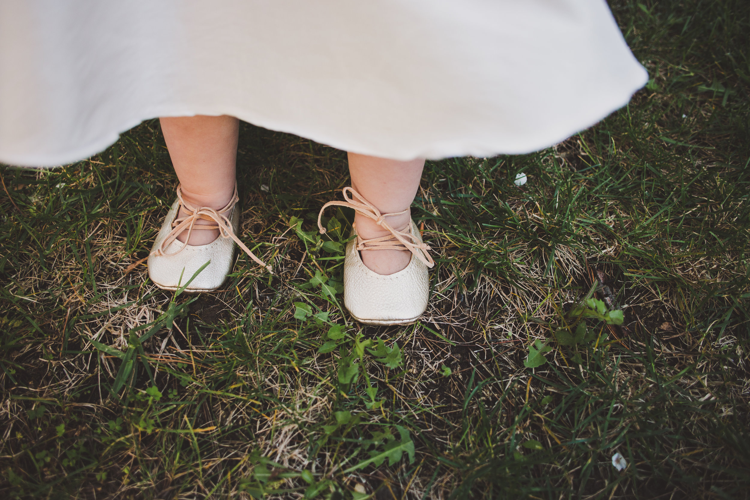 Baby Gold Lace Up Ballet Flats - First Birthday Party Ideas - A Vintage Chic Pi Day Themed 1st Birthday Party   Ava's First Birthday