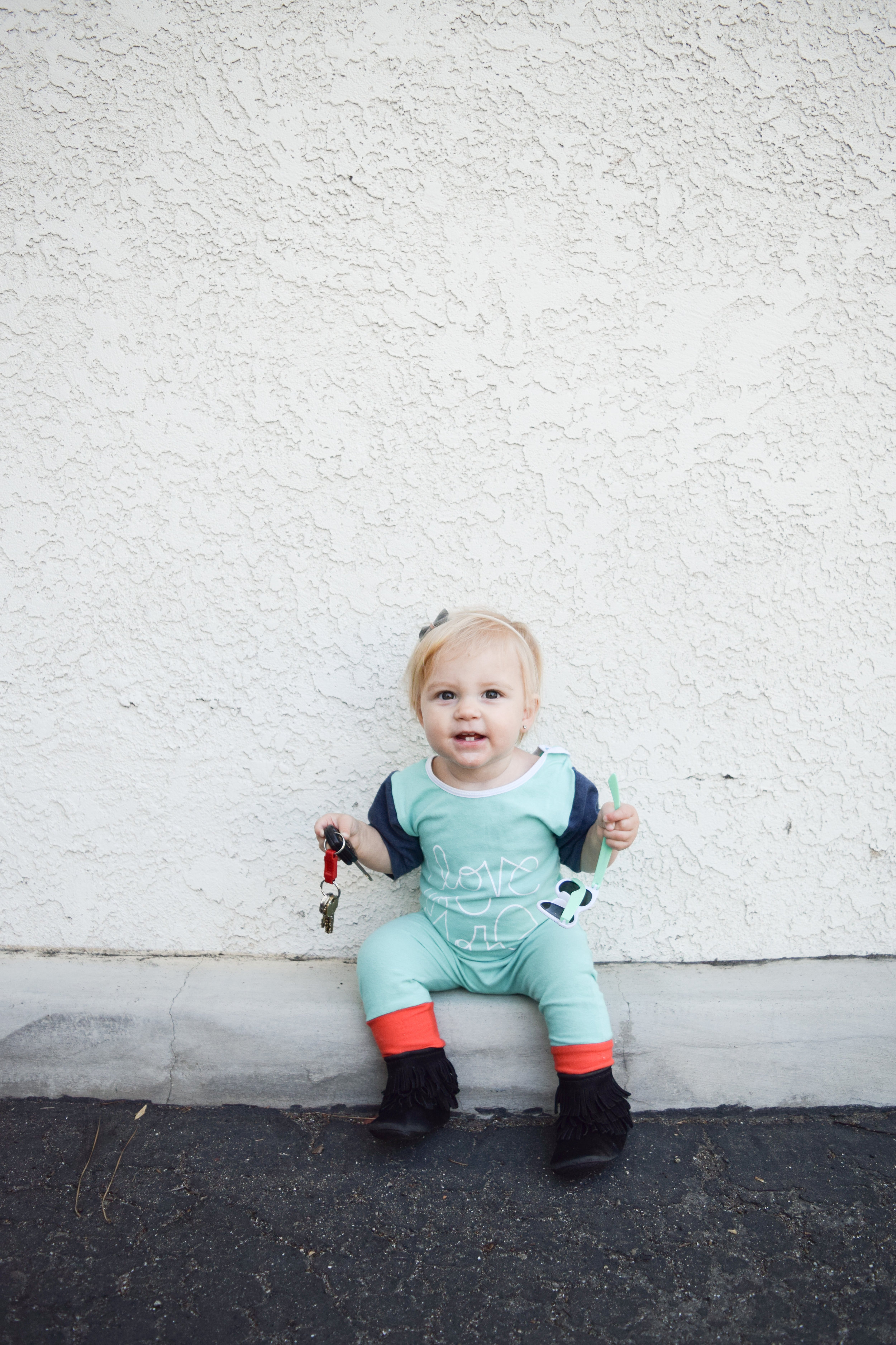 Kids Teal Romper - Unisex Kids Clothing Line - Tenth&Pine