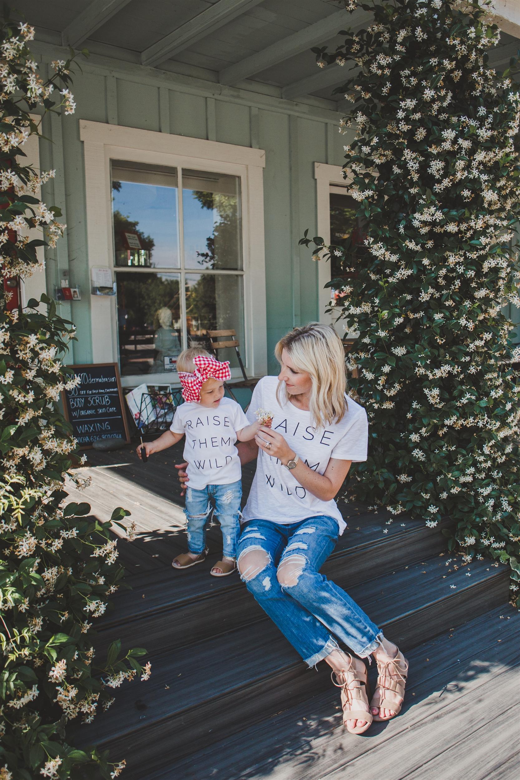 Matching Mommy + Me T Shirts - Raise Them Wild - Wild Sunshine Threads