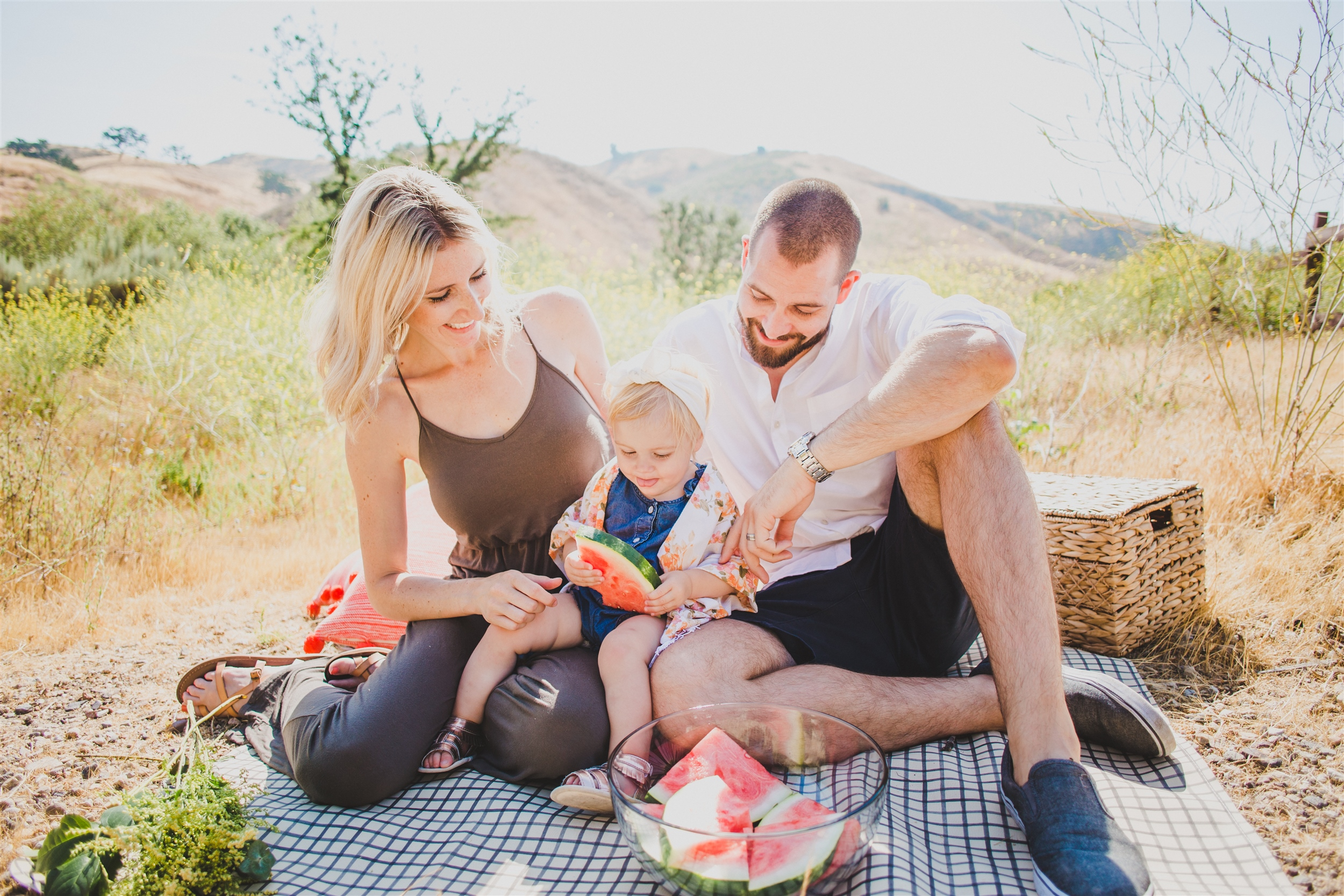 Southern California Watermelon Mini Family Photos - Briana Lindsey Photography
