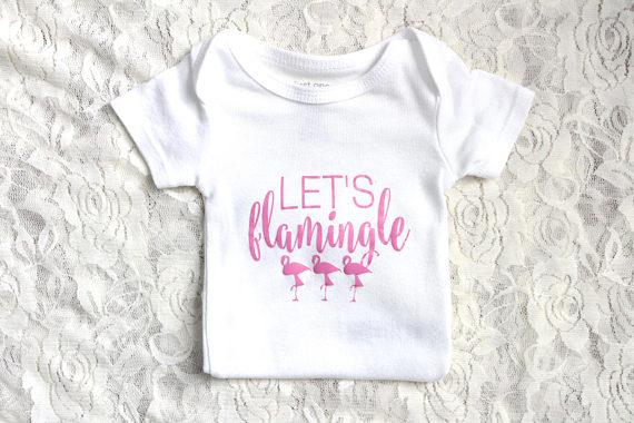 Flamingo Onesie - Let's Flamingle
