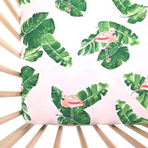 Flamingo Crib Sheet