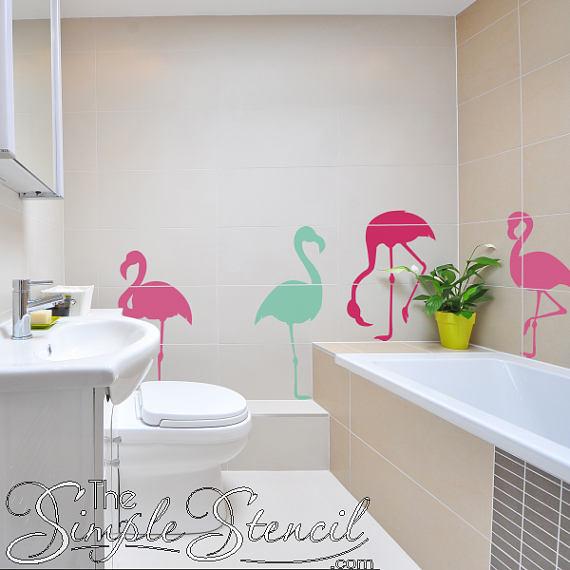 Flamingo Vinyl Wall Decor