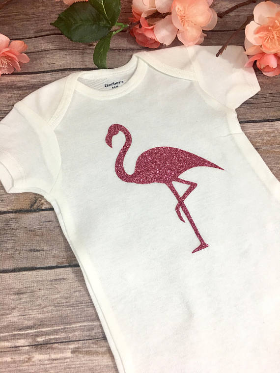 Baby Flamingo Onesie