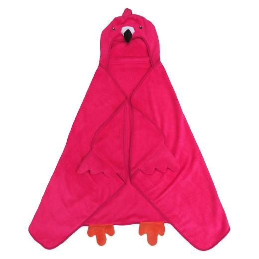 Flamingo Hooded Kids Bath Towel