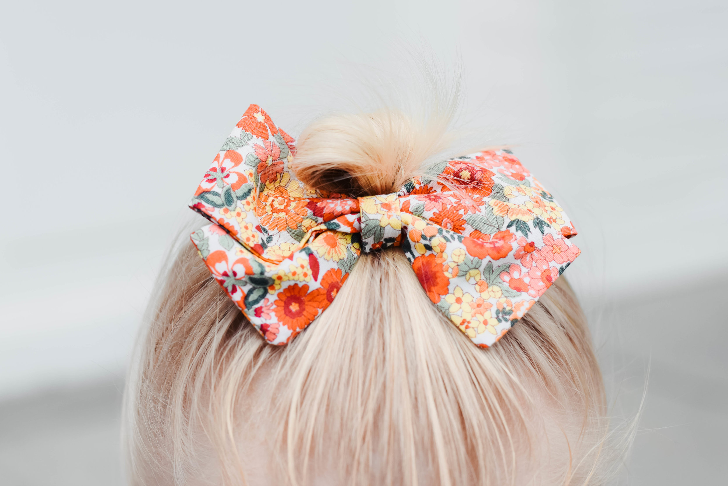 Fall Floral Large Baby Bow - Kids Fall Fashion Guide - Elle Belle Baby