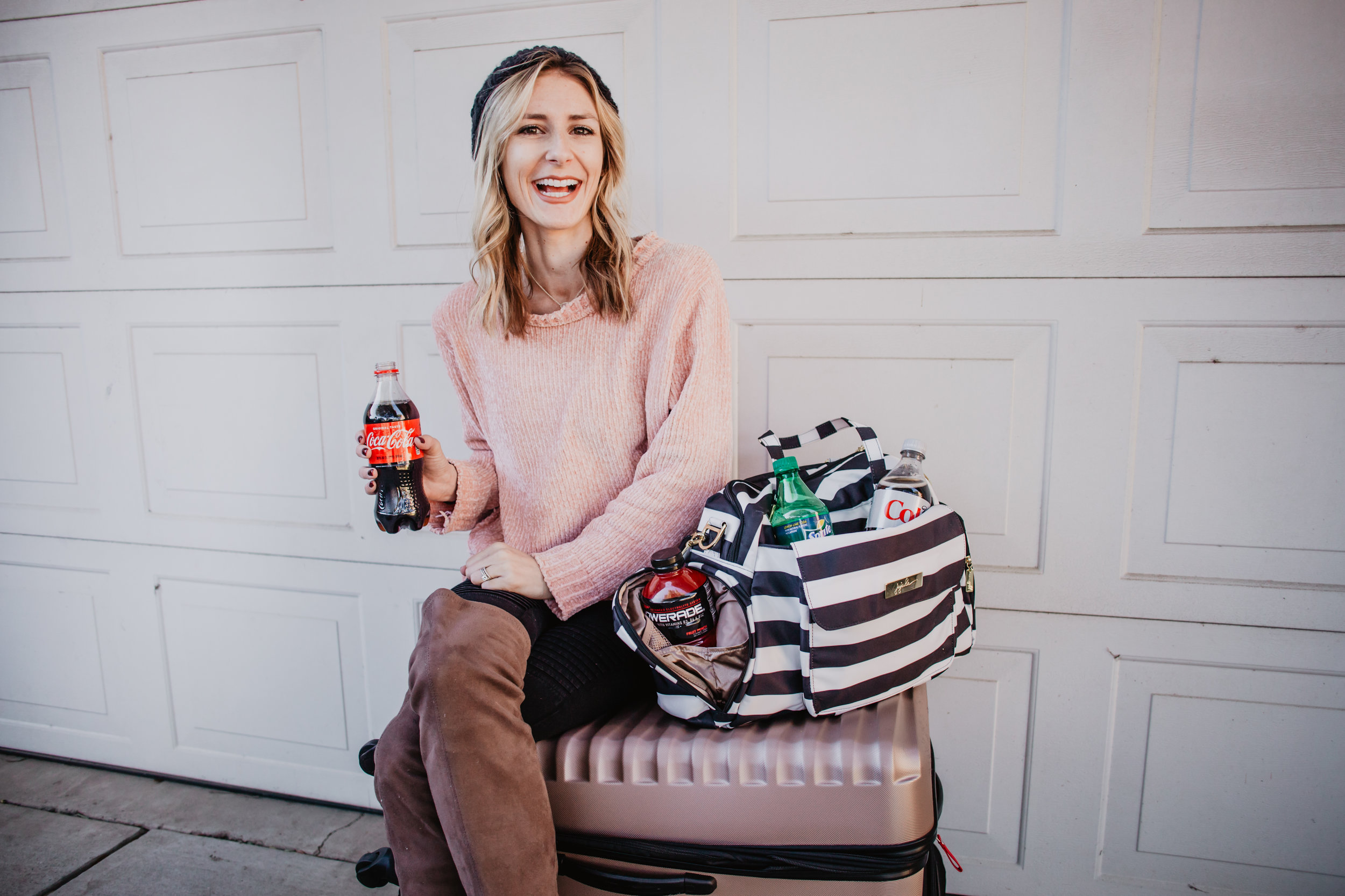 6 Tips for Road Tripping with A Toddler -- Coca Cola Arctic Cooler Chevron Machine -- Mommy Blogger-Vlogger - The Overwhelmed Mommy