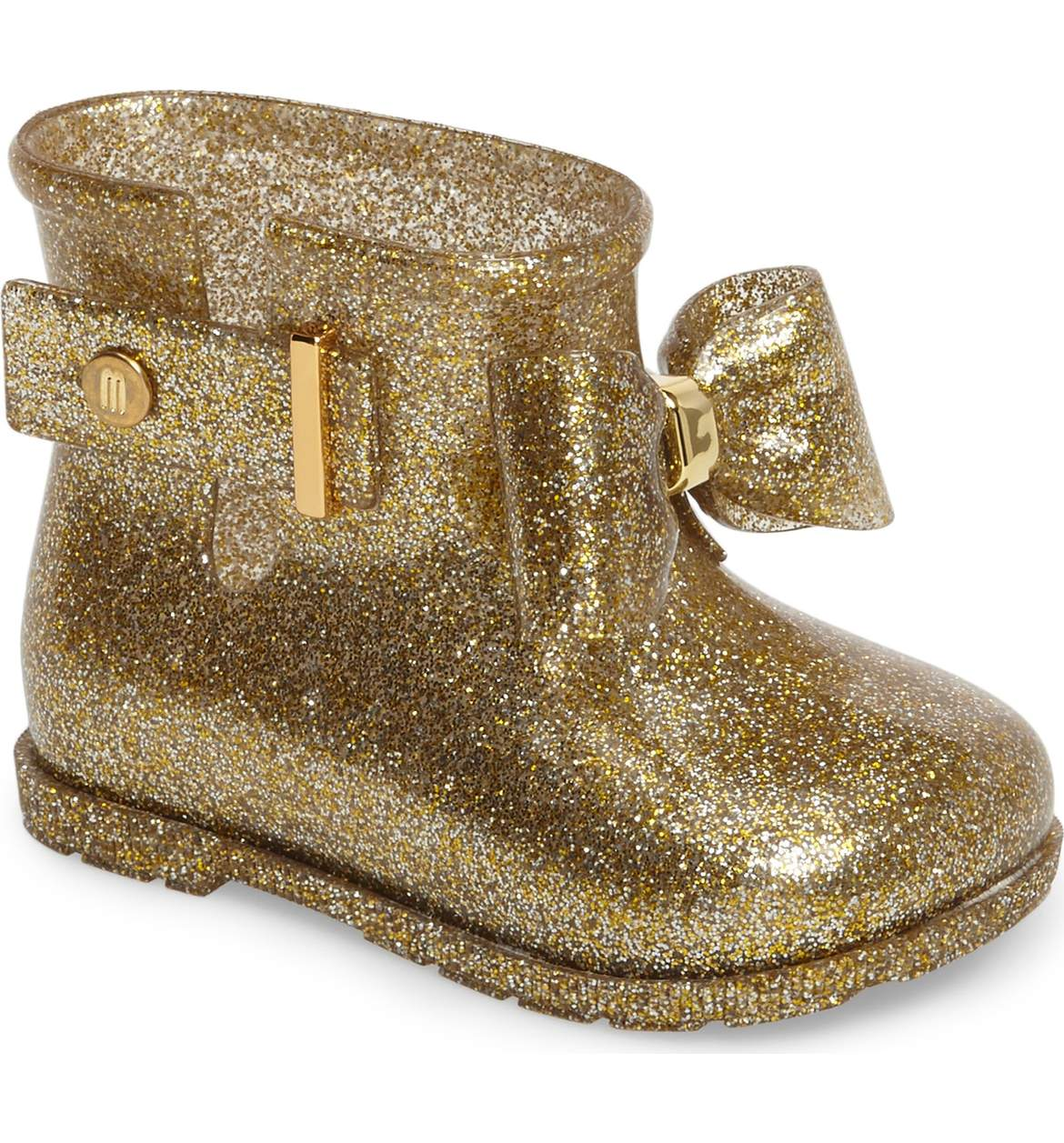 Cute Kids-Toddler Gold Glitter Rain Boots -- Mommy Blogger-Vlogger - The Overwhelmed Mommy