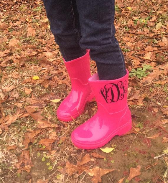 Cute Kids-Toddler Monogram Rain Boots -- Mommy Blogger-Vlogger - The Overwhelmed Mommy