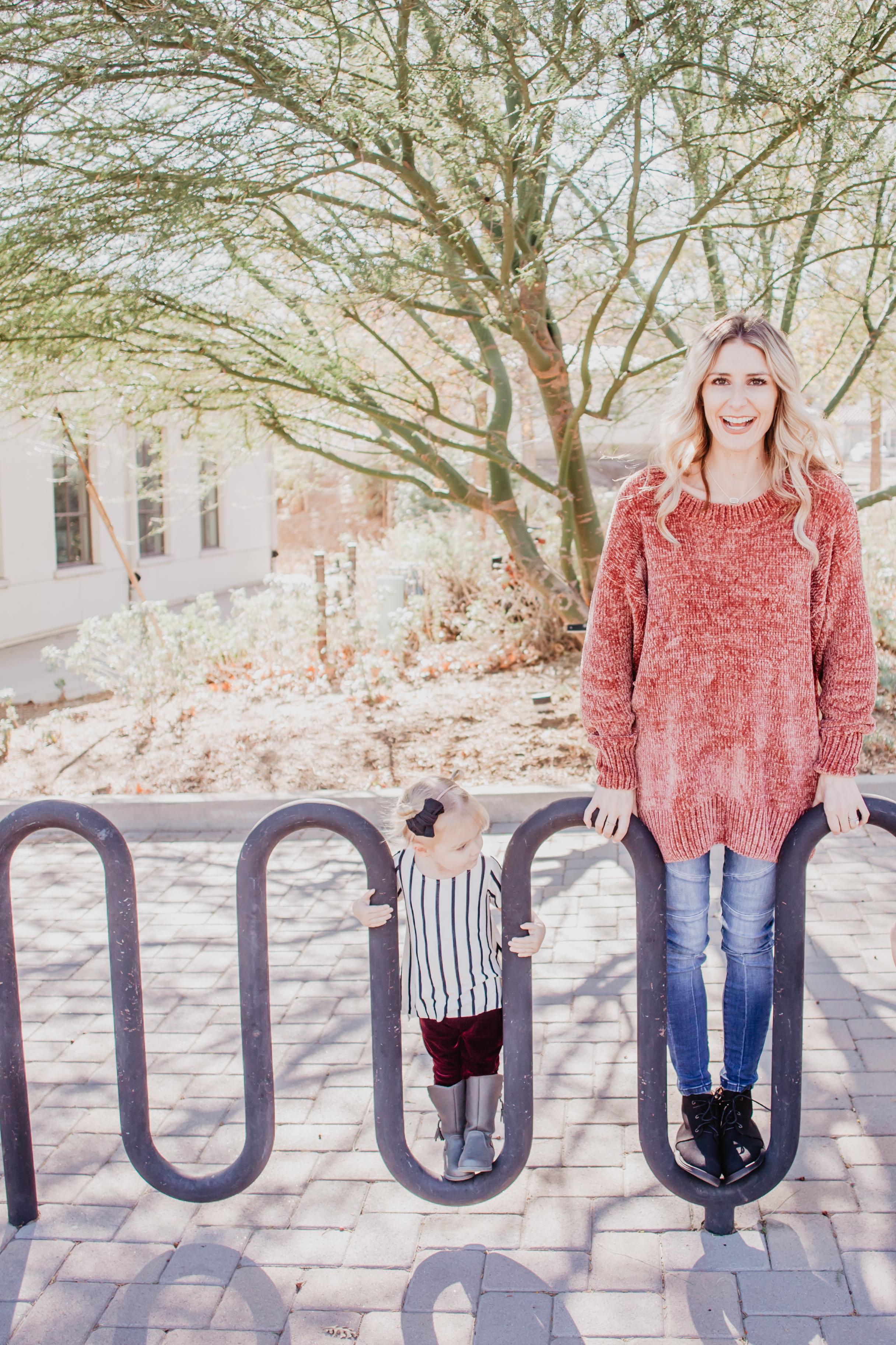 Mom Fashion Blog - Cute Kids Clothes - Kids Velvet Leggings - Pink Desert Clothing -- Mommy Blogger-Vlogger - The Overwhelmed Mommy