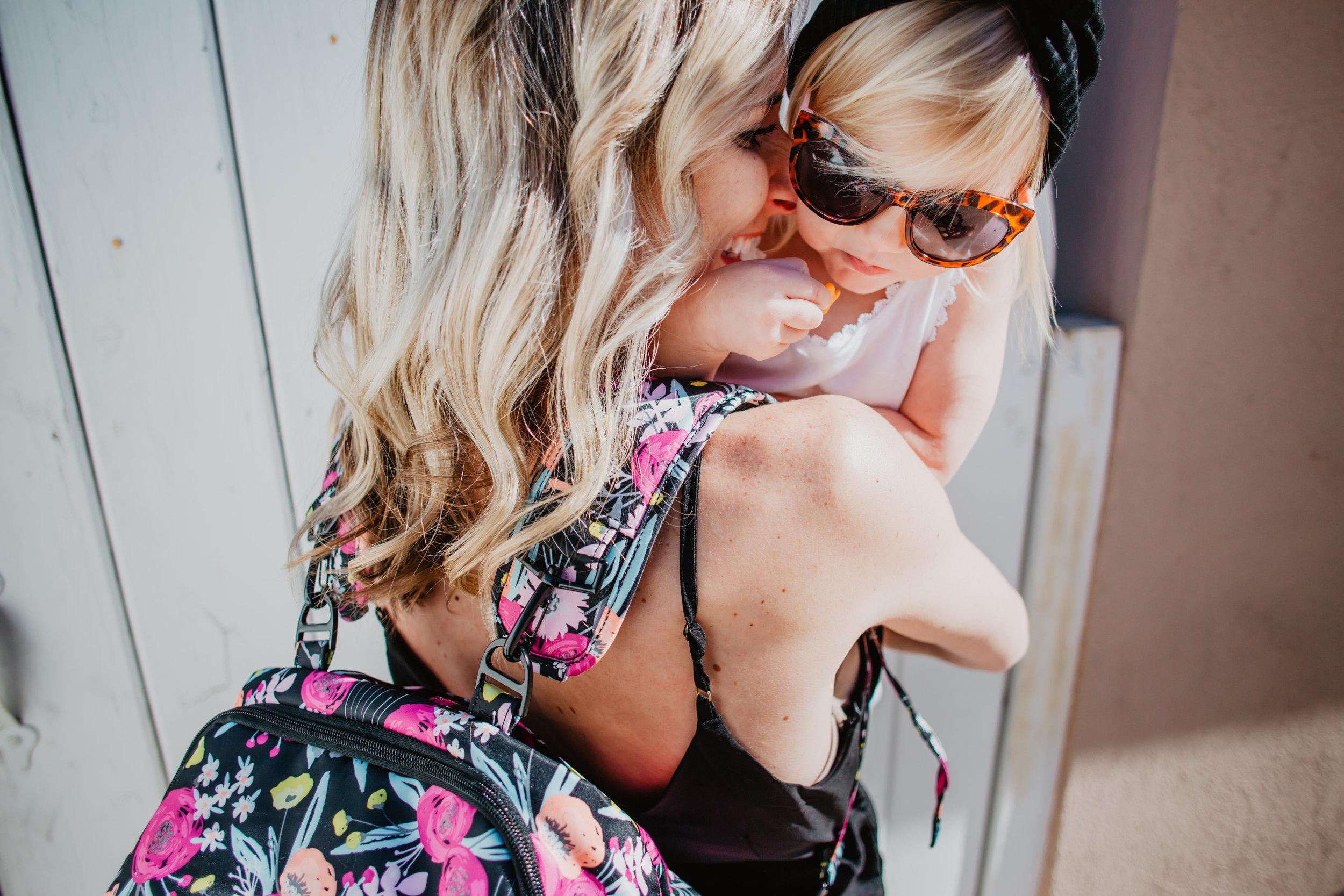 Trendy Diaper Bag Backpacks - Ju-Ju-Be Black and Bloom Be Nurtured -- Mommy Blog - The Overwhelmed Mommy