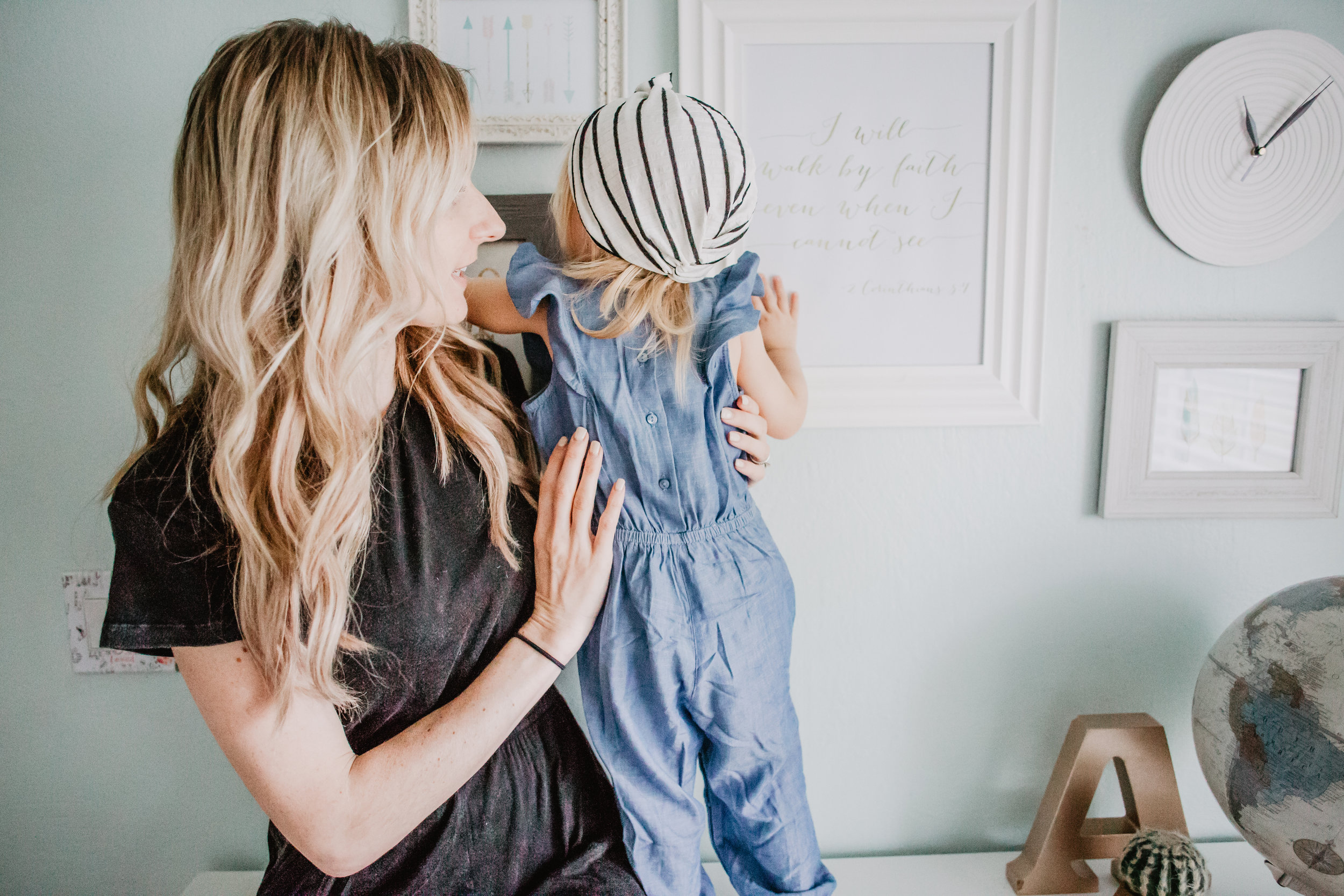 Women's Black Open Back Jumpsuit - Kids Chambray Flutter Sleeve Jumpsuit - Cute Kids Clothes -- Mommy Blogger - The Overwhelmed Mommy