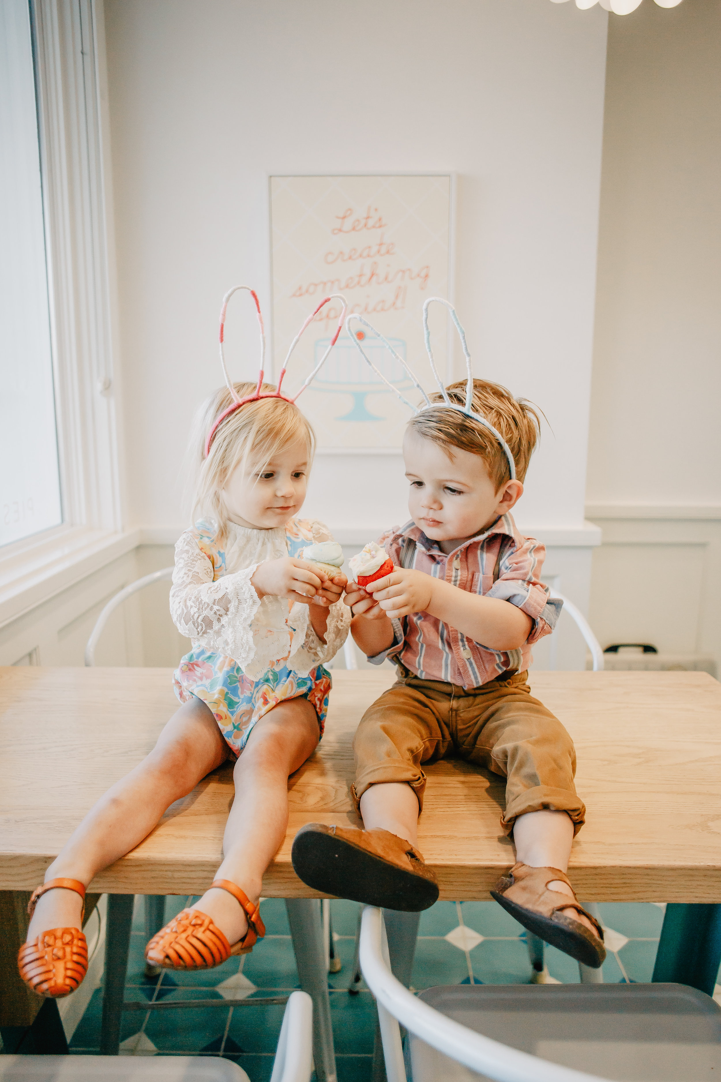 The Oliver + Ava Show: Bunny Edition - Kids Easter Outfits -- Mommy Blogger - The Overwhelmed Mommy